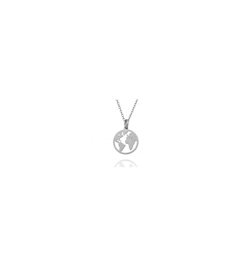 en venta 00246 3a388 Colgante Mundo plata