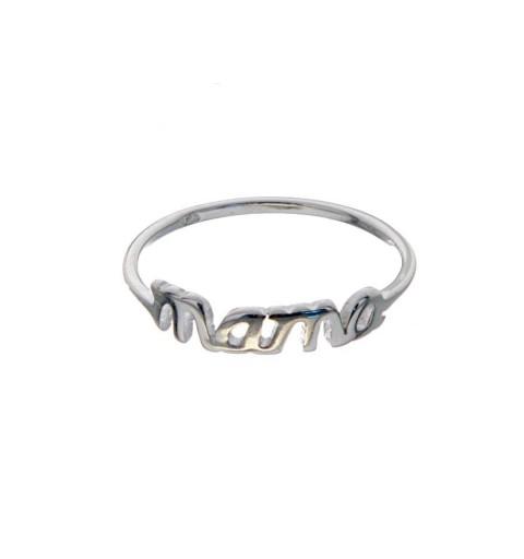anillo plata mama